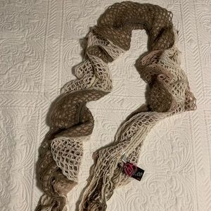Ardene scarf. NEW WITH TAGS. Cream, tan, brown